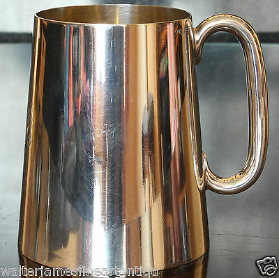 DEYKIN & SONS Electroplated Silver Tankard, 1/2 Pint, Fully Marked