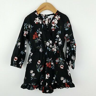 Bailey's Blossoms Floral Print Playsuit Toddler Girls Size 3T