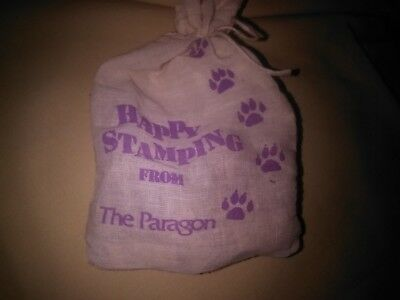 Happy Stamping Kit from The Paragon w/ Assorted Stamps in Carrying Bag