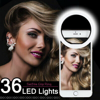 Universal Selfie 36 LED Light Ring Flash Fill Clip Camera For Phone&Tablet Pad