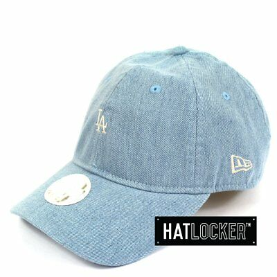New Era - Women's LA Dodgers Mini Logo Denim Curved Brim