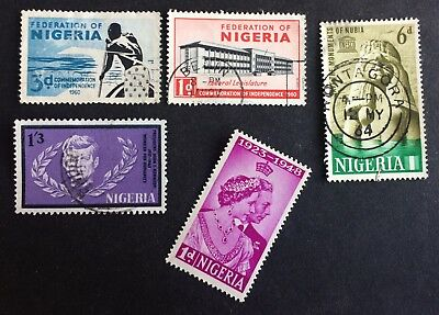 4 nice old stamps Nigeria