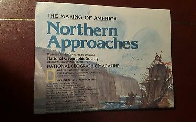 National Geographic Mag -supplement map northern approaches - free post