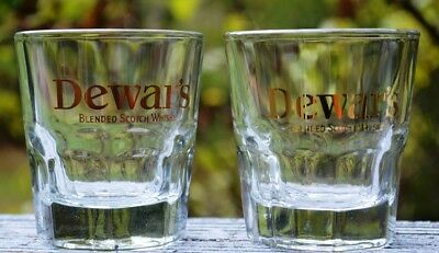 New Pair Of Dewar's Blended Scotch Whisky Lowballs