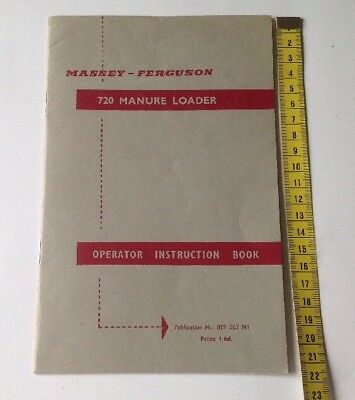Massey Ferguson Original 720 Manure Loader Instruction Manual/Book