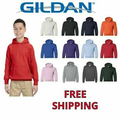 Gildan Youth Basic Fleece Blend Hooded Pullover Sweatshirt 18500B XS-XL Hoodie