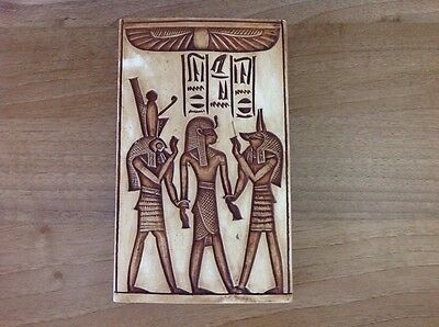 Rare Egyptian Burial Wall Replica Ramses Horus Anubis Ceramic Tile Buy Xmas