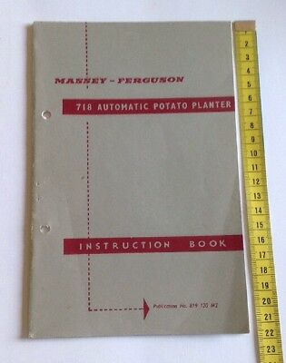 Massey Ferguson Original 718 Potato Planter Instruction Book/Manual
