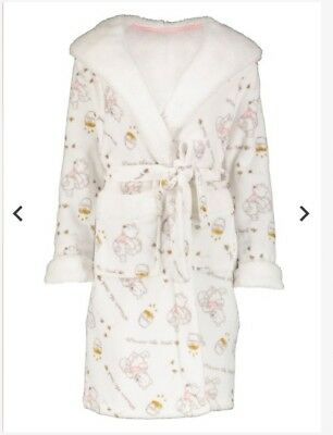 WOMENS LUXURY DISNEY Winnie The Pooh Cream Dressing Gown Small Bnwt ... aef411c9bf61