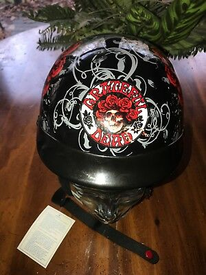 2012 Grateful Dead Skid Lid Motorcycle Helmet Size  XS New
