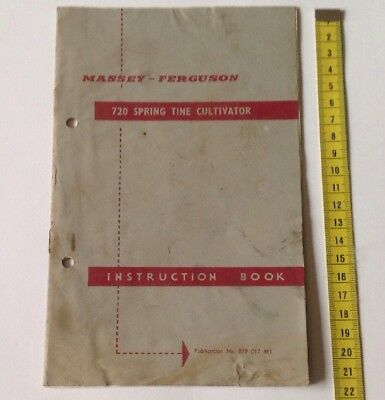 Massey Ferguson Original 720 Spring Tine Cultivator Instruction Manual/Book