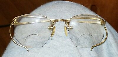 Antique Vintage American Optical AO 1/10 12k Gold Filled Wire Eyeglasses