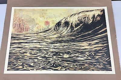 Shepard Fairey DARK WAVE Signed '17 Offset Lithograph Poster Print - OBEY Giant