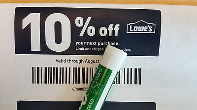 One Lowes 10% Off Online & In-Store 1Coupon | Instant delivery | Exp 05/31/19