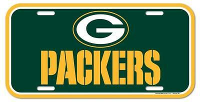Green Bay Packers Plastic License Plate (NEW) NFL Tag Auto Car Truck Frame