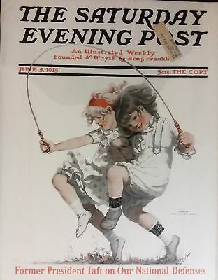 Rare, beautifully framed June 1915 Saturday Evening Post cover by Sarah Stilwell