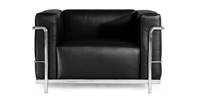LC3 Chair - Top Grain Italian Leather Stainless Steel Frame