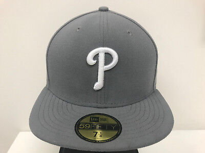 New Era 59Fifty 5950 MLB Philadelphia Phillies Storm Gray Fitted Cap Hat