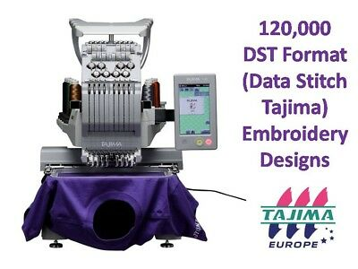 TAJIMA DST Sewing Machine Embroidery Designs Collection on DVD over 120,000