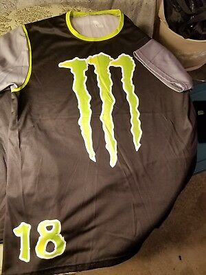 New Monster Energy Drink Lacrosse Uniform Shorts And Jersey Size Lg.