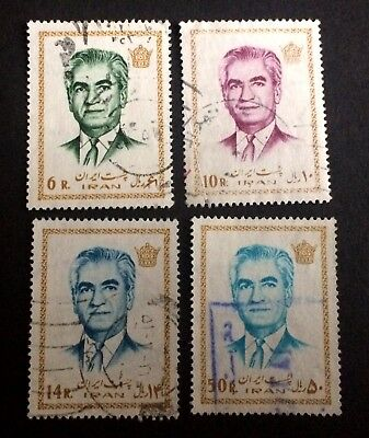 Shah - 4 nice old used stamps Persian Empire / 31