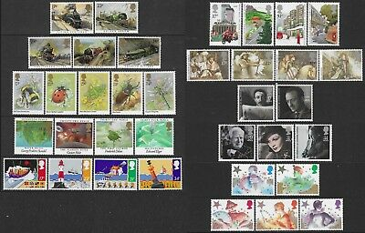 GB 1985. A COMPLETE YEAR OF 8 SETS OF COMMEMORATIVE STAMPS. MNH. FV £9.31p.