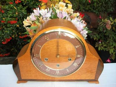 Stunning Smiths 8 Day Westminster Chiming Mantel Clock. 1955. Fully Overhauled.