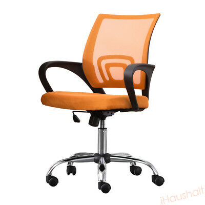 Orange Mesh Seat Office Chair Adjustable Height Desk Home Meeting Furniture