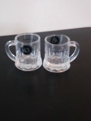 Set of 12 Licor 43 Beer Mug Shot Glasses Embossed Bottom