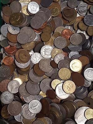10 lbs Pounds of Many Countries Mixed Foreign Coins FREE SHIPPING USA ONLY