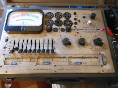 Vintage Precision 660 Tube And Transistor Tester In Case