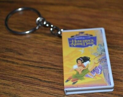 Disney Hunchback Of Notre Dame Vhs Mystery Keychain Opens To Show Tape Inside