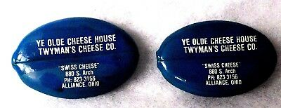 Vintage Two Coin Purses's Ye Olde Cheese House Twyman's Cheese Co. Alliance, Oh.