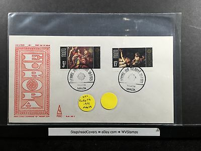 Malta FDC 15 Jul 1975 Christmas Religious Europa Valletta Cancel