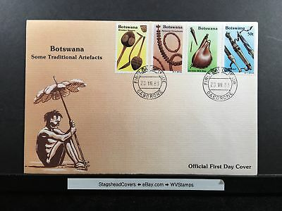 Botswana FDC 20 Jul 1983 Some Traditional Artifacts Wooden Spoons Gaborone