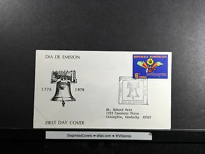 Dominican Republic FDC 29 May 1976 Day Of Emission Liberty Bell Santo Domingo