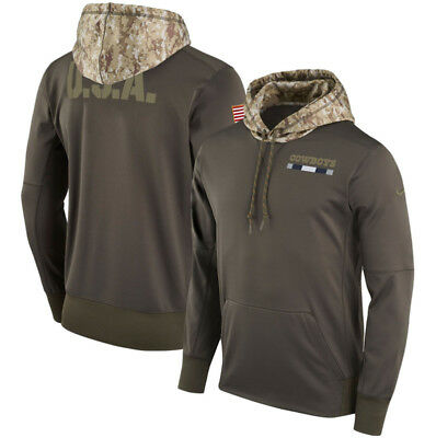 f0d39384a Dallas Cowboys 2017 Salute to Service Men s Sideline Therma Hoodie MEDIUM