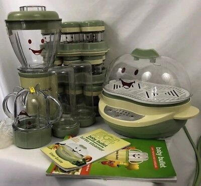 Magic Baby Bullet Set Baby Food Making Blender, Steamer, and Storage Cups