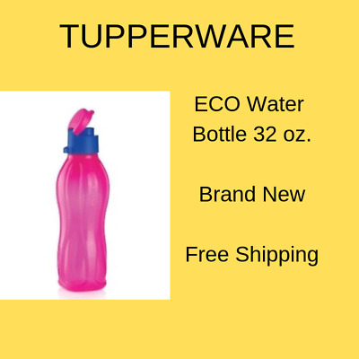 TUPPERWARE Large Eco Water Bottle 36 oz/1L Free Shipping
