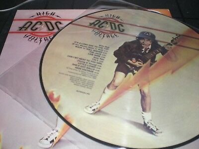 Ac/dc  High Voltage  Lp  Vinyl Picture Disc With Cover