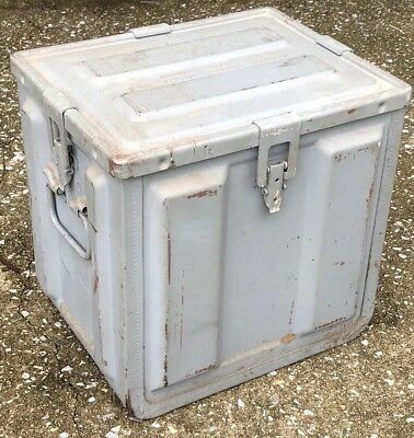 Vintage MK-2 LARGE Ammo Component Box Crate 982443-B Ammunition Industrial Metal