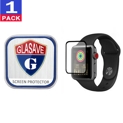 GLASAVE Apple watch 1 2 3 38mm FULL COVER Tempered Glass Screen Protector