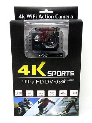 4K Ultra HD WiFi DV 16MP 1080P Sports Pro Action Camera + Full Accessory Bundle