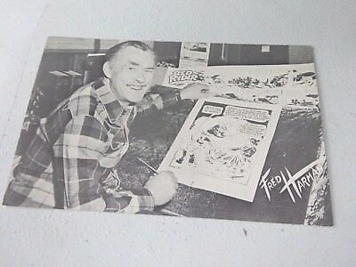 1950's Fred Harmon Postcard, Comic Artist of Red Ryder Little Beaver