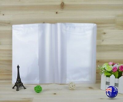 5x Back to School B5 sized Plastic Protective Clear Exercise Book Cover wrap