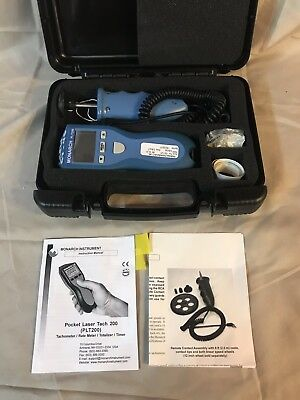 Monarch Plt200 Pocket Laser Tachometer 200 Kit W/remote Contact Assembly