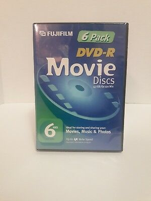 Fujifilm DVD Recordable Media DVD-R  4X 4.7GB 6-Pack Video Box - Up to 4X Write