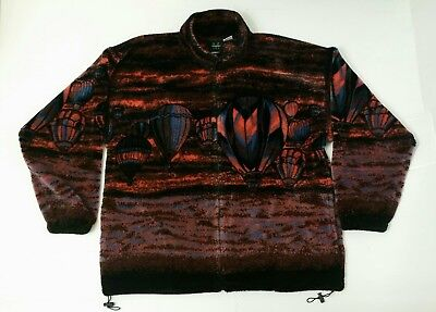 Mazmania XL Hot Air Balloon Zip Up Sweater Comfy Excellent Condition