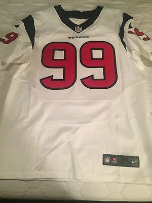 100% Authentic On Field Game Cut JJ Watt Houston Texans Jersey Nike Size 44 0c32ed9fc