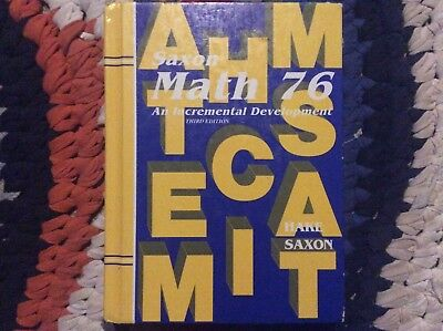 Saxon Math 76: An Incremental Development (Third Edition, Hardcover)